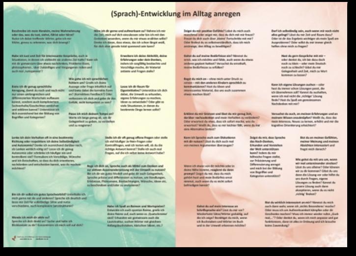 Plakat (Sprach)-Entwicklung im Alltag anregen